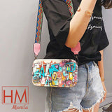 Fashion Cross Body Sling Graffiti Shoulder Bag