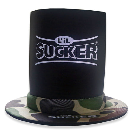 Lil Sucker Insulator Bottle Koozie Suction Cup Camo