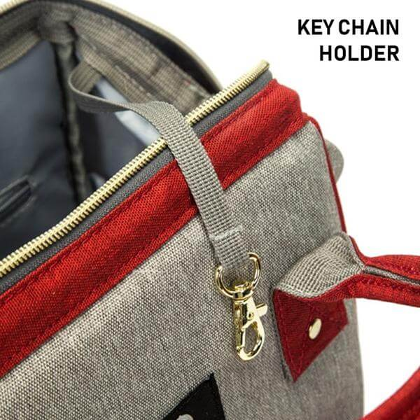 baby bag with keychain holder