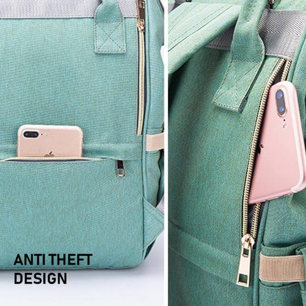 baby diaper bag with anti theft design