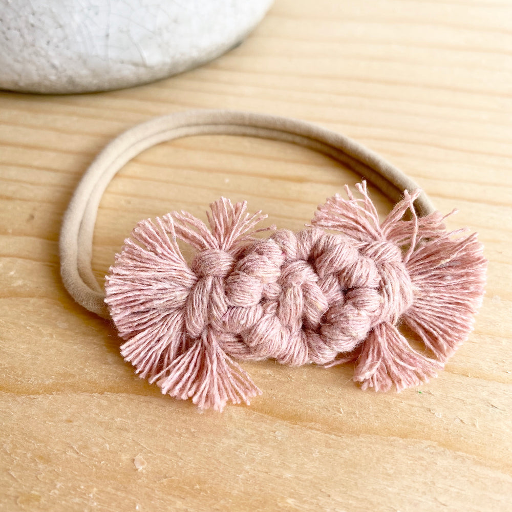 Macrame Bow Headband