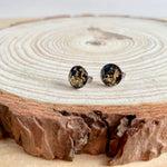 Black & Gold Stud Earrings