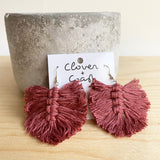 Macrame Feather Earrings (More Colour Options)