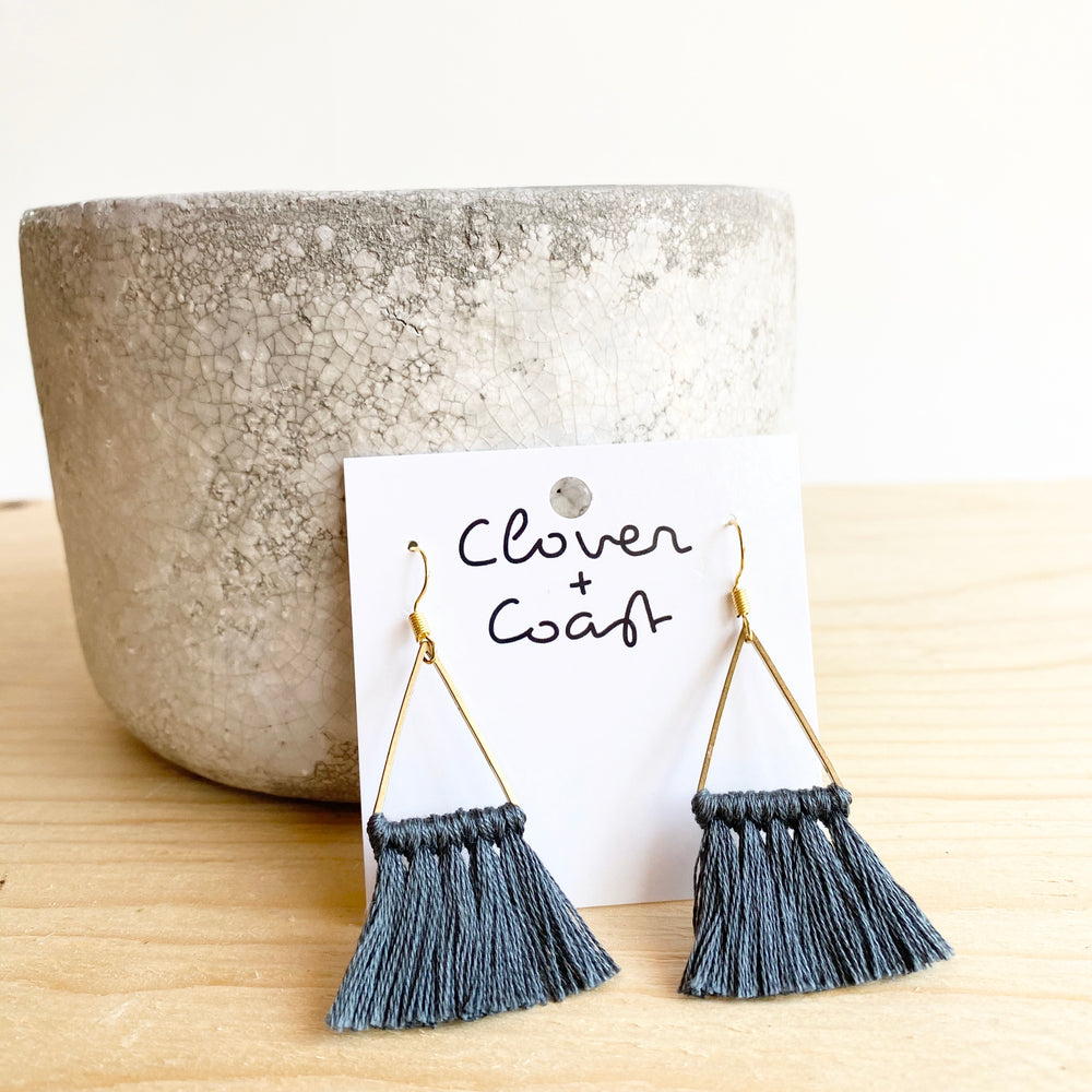 Small Triangle Fringe Earrings (More Colour Options)