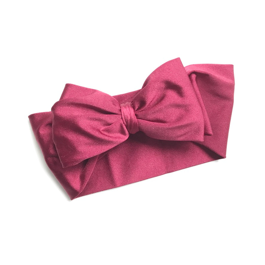 Burgundy Single Bow