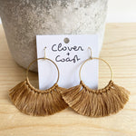Large Circle Fringe Earrings (More Colour Options)