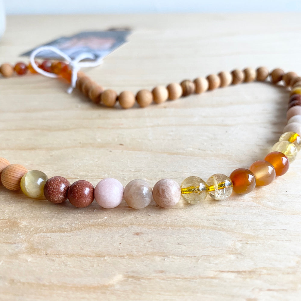 Gemstone Necklace - Wrap Bracelet | The Pear Co. Collection