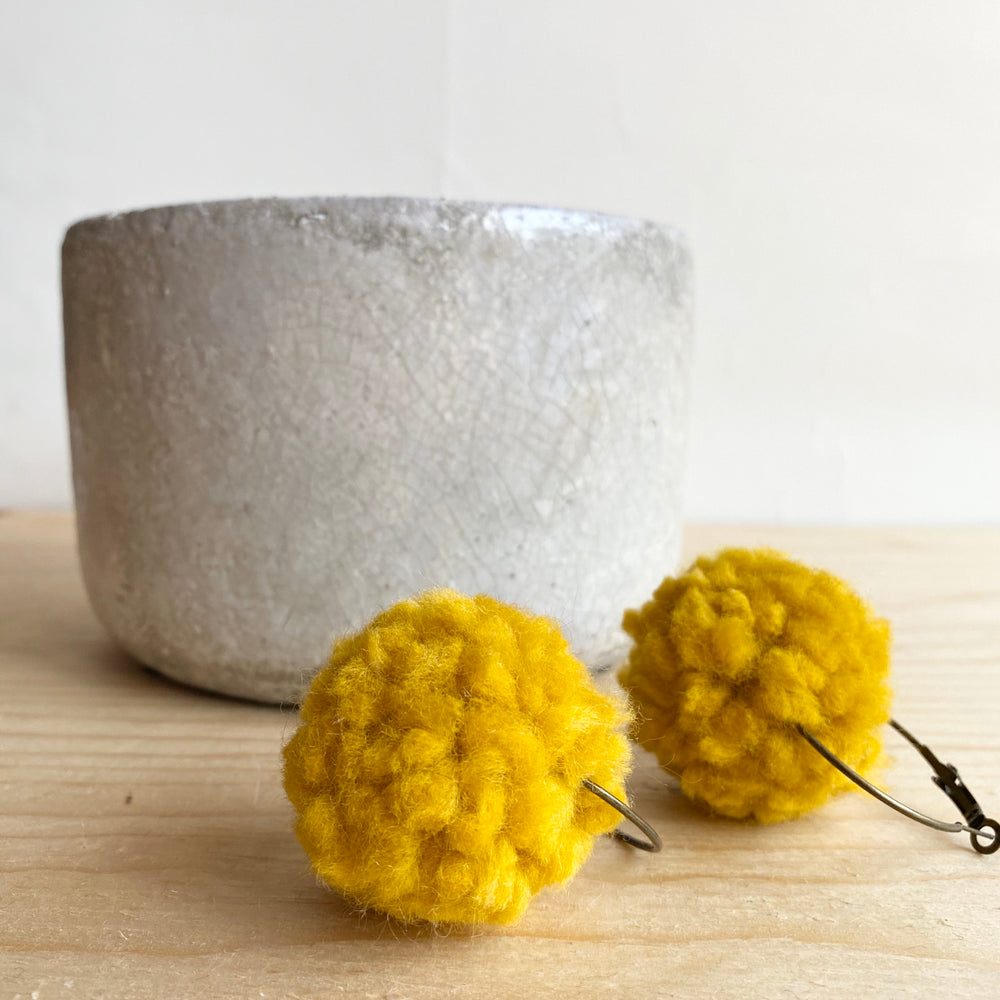 Pom Pom Earrings (More Colour Options)