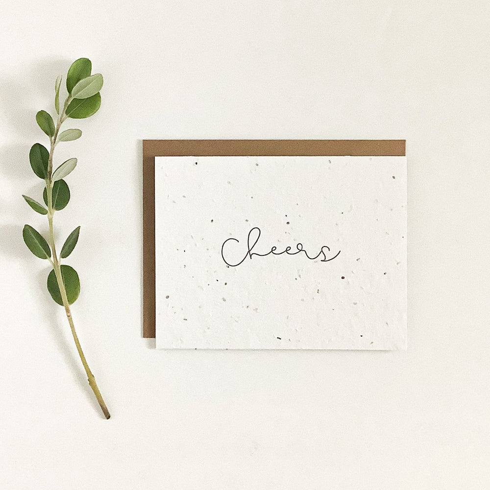 Cheers | Plantable Seed Card