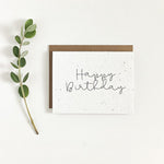 Happy Birthday | Plantable Seed Card