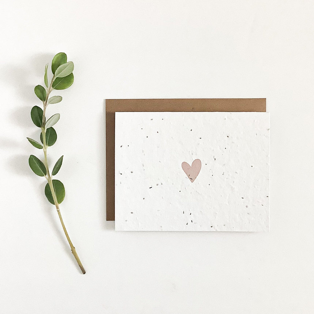 Heart  | Plantable Seed Card