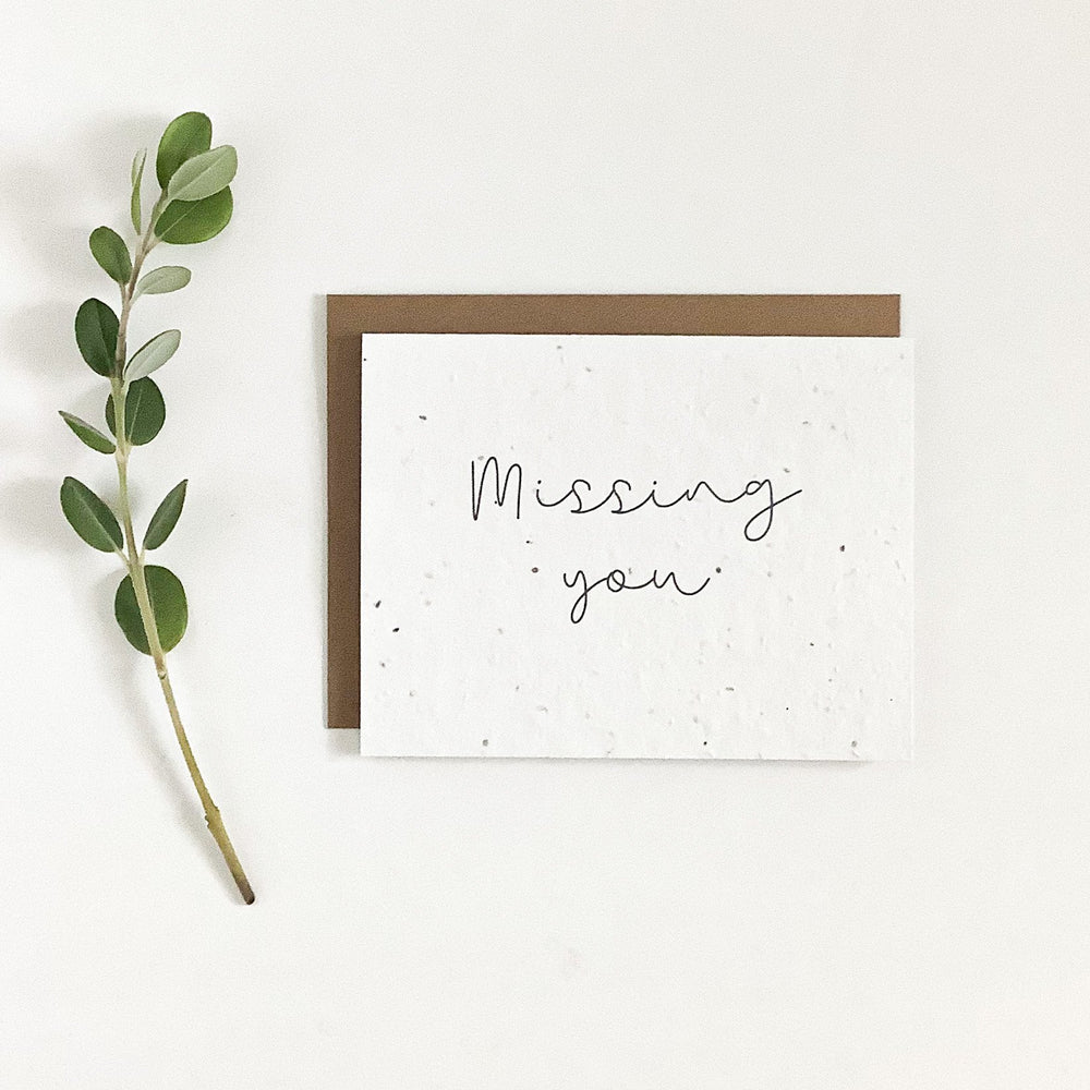 Missing You | Plantable Seed Card