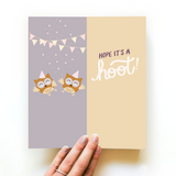 I'm a Hoot Card & Socks | For Her