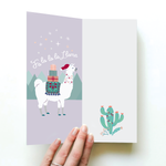 """Say it with Sox"" Loco Llama Christmas Card & Socks 