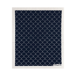 Scallop Black Sponge Cloth | Ten and Co.