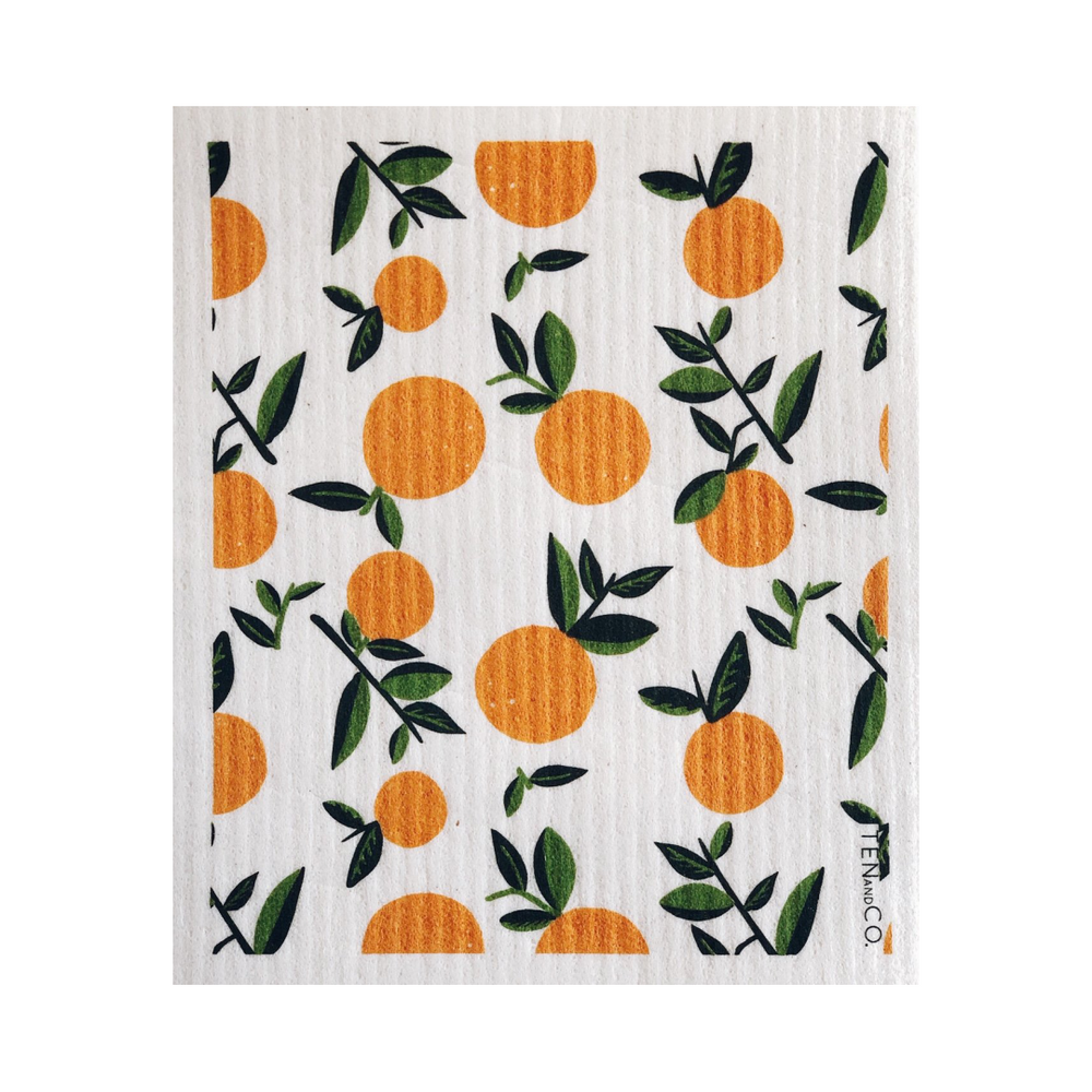 Citrus Orange Sponge Cloth | Ten and Co.