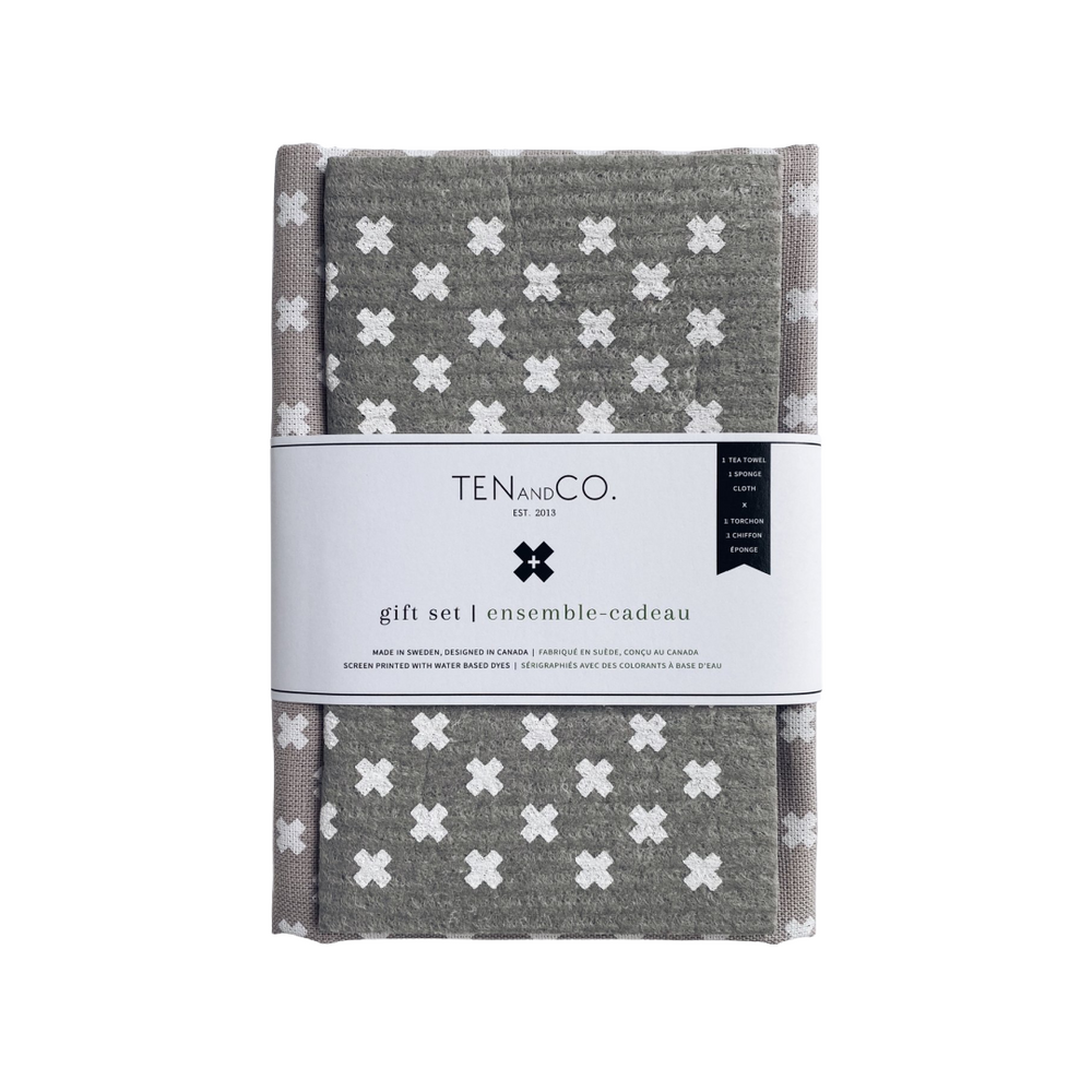 Gift Set -  Tiny X on Warm Grey | Ten and Co.