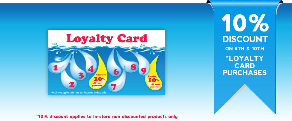 10% discount in-store with your Loyalty Card