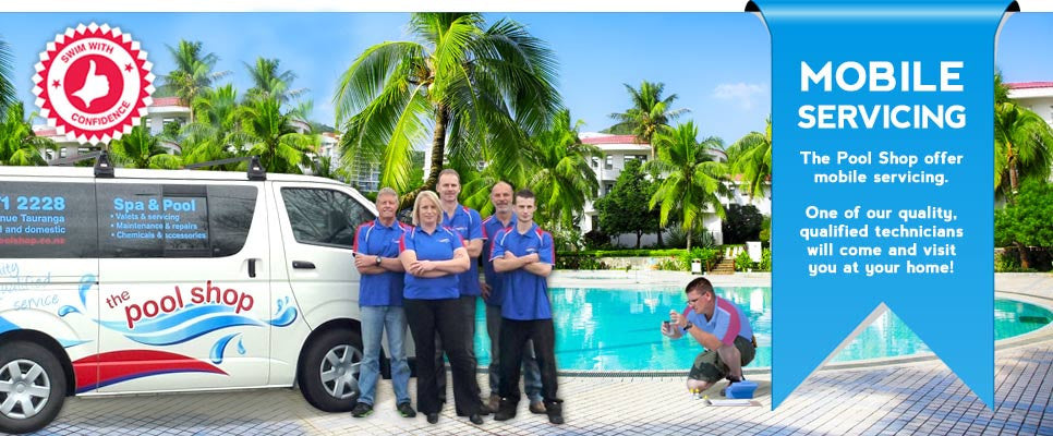 The Pool Shop offer mobile servicing