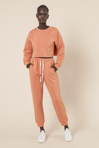 Carter Classic Trackpant - Terracotta-Nude Lucy-Lot 39 Store & Cafe