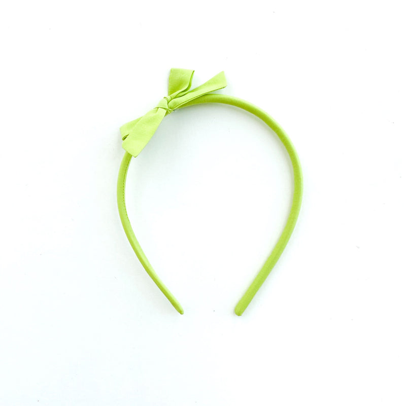 Girls Headband-Citrus Green