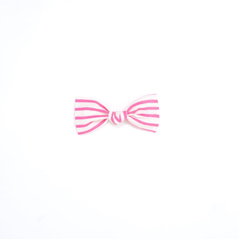 Knot bow- pink stripe