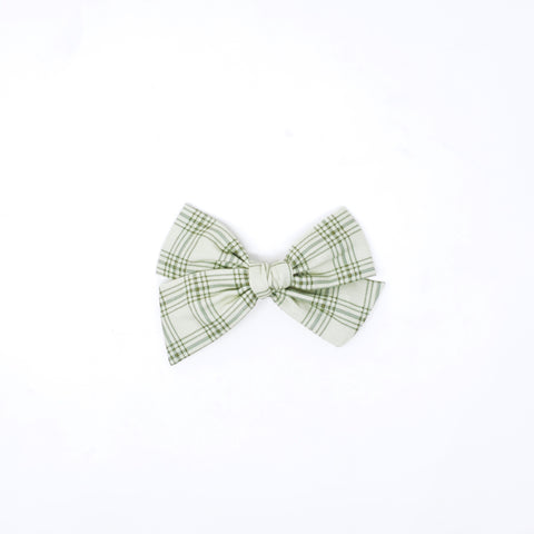 Gemma Bow-Sage Plaid