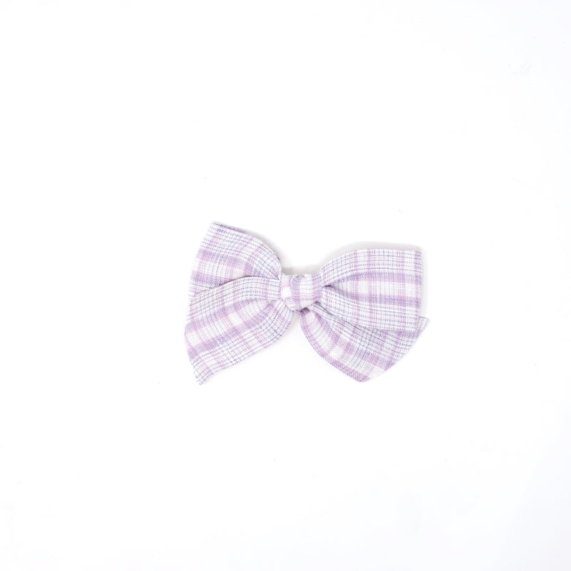 Gemma Bow-Purple plaid