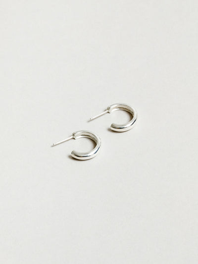 Abbie Hoops in Sterling Silver
