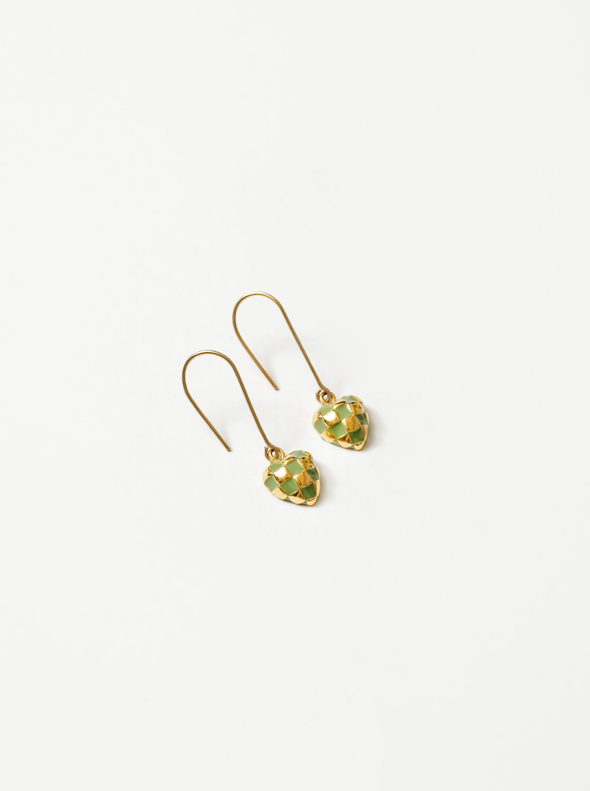 Georgia Earrings in Green and Gold