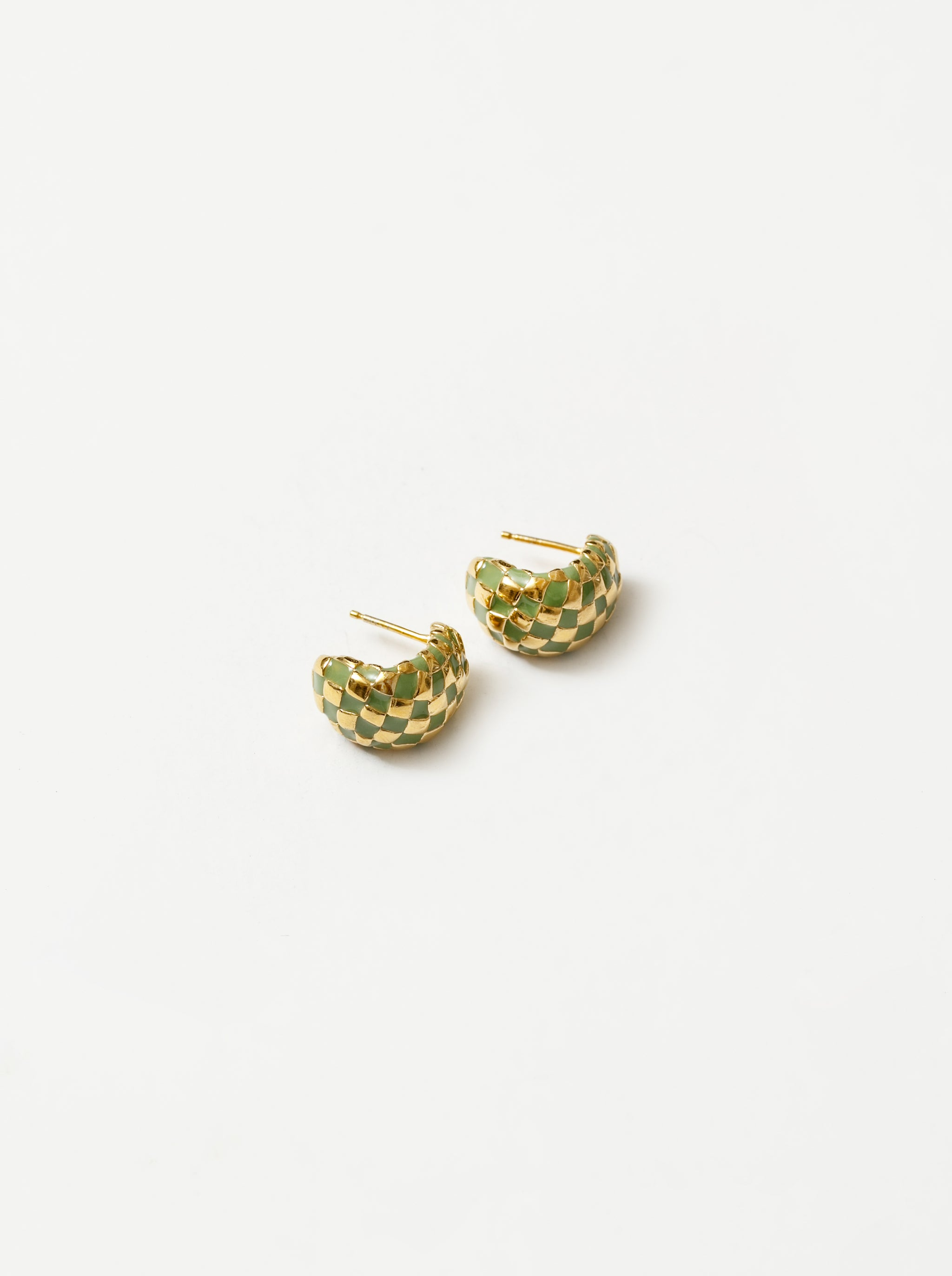 Nellie Earrings in Green and Gold
