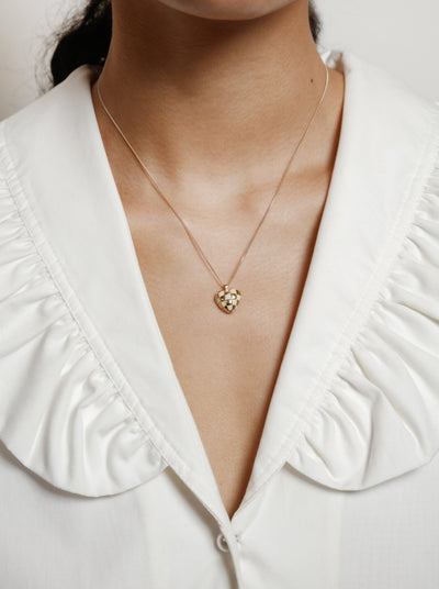 Georgia Necklace in Cream and Gold