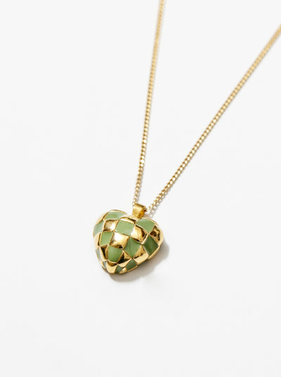 Georgia Necklace in Green and Gold
