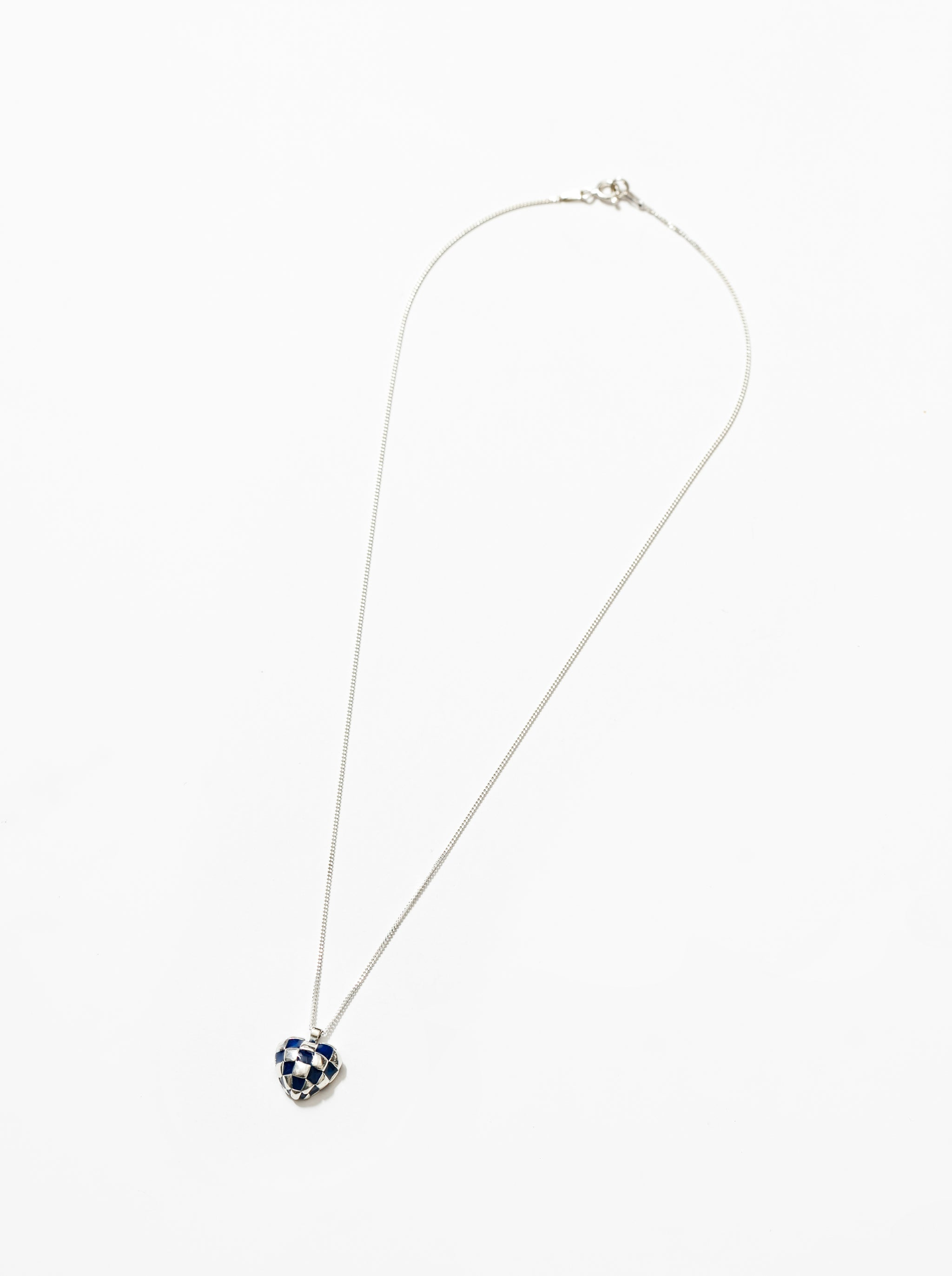 Georgia Necklace in Navy and Sterling Silver