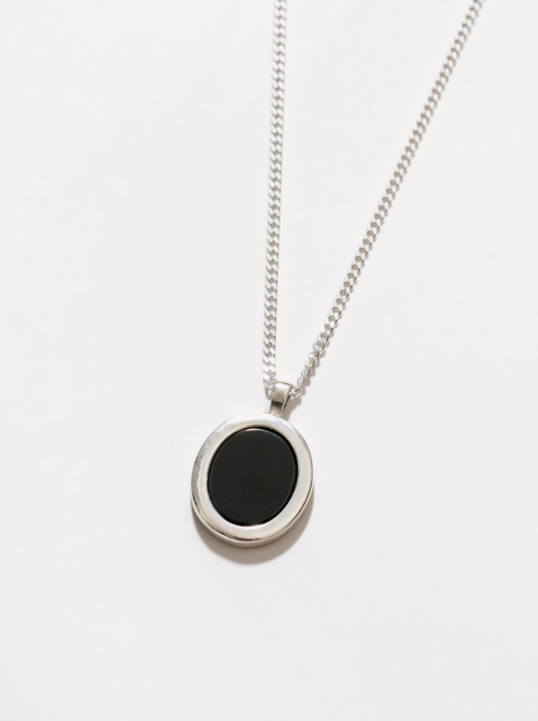Tosh Necklace in Black and Sterling Silver