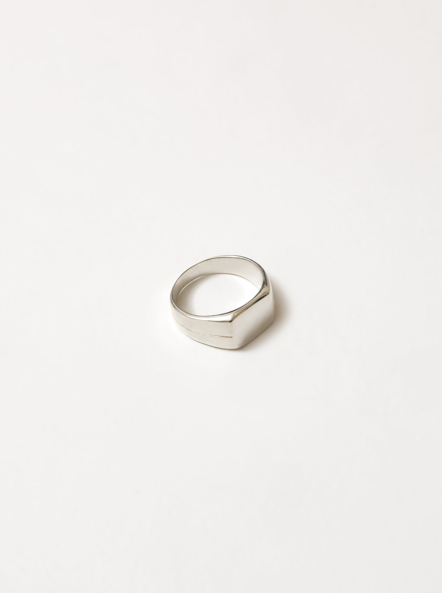 Gino Signet Ring in Sterling Silver