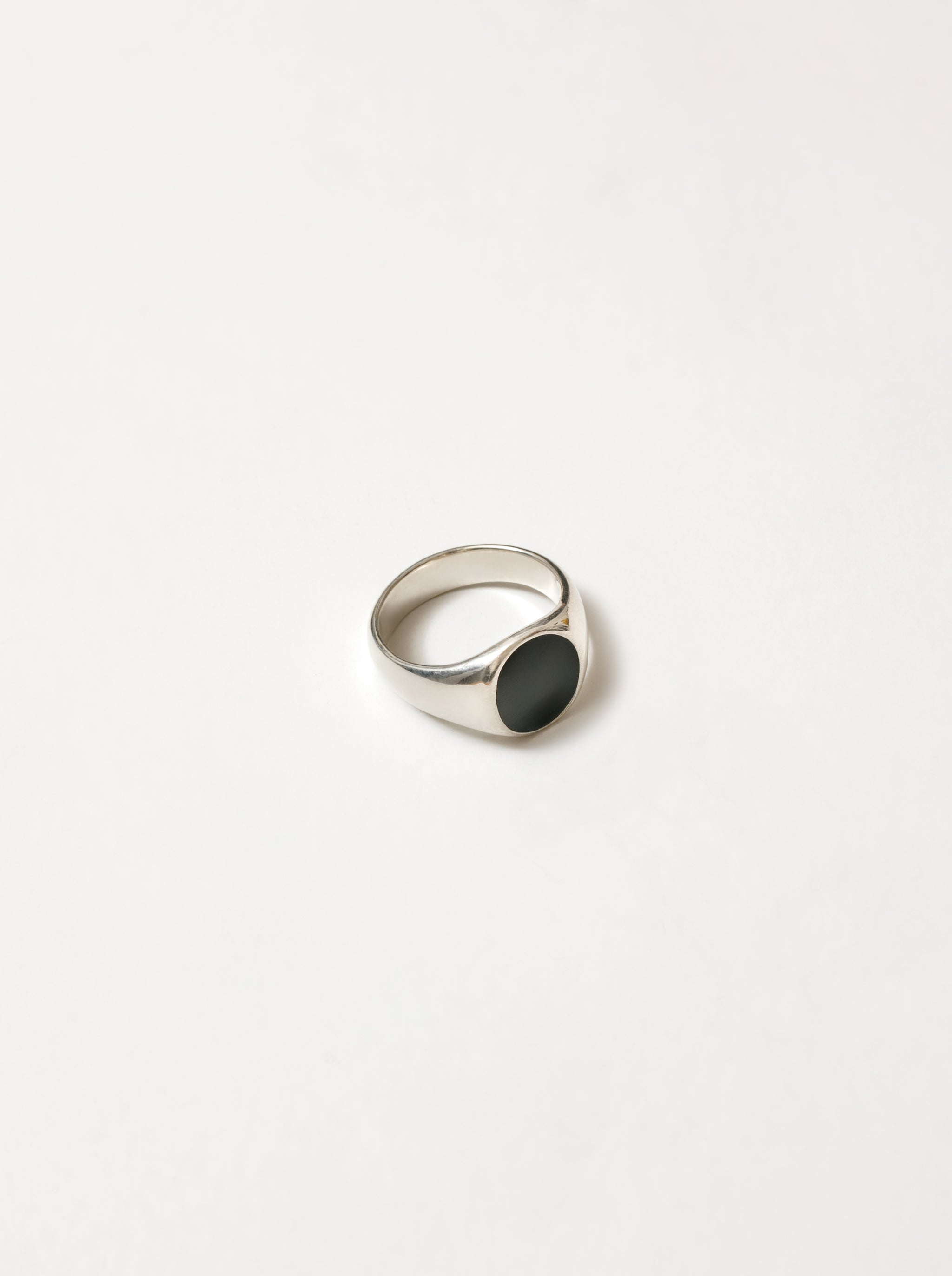 Tosh Signet Ring in Black and Sterling Silver