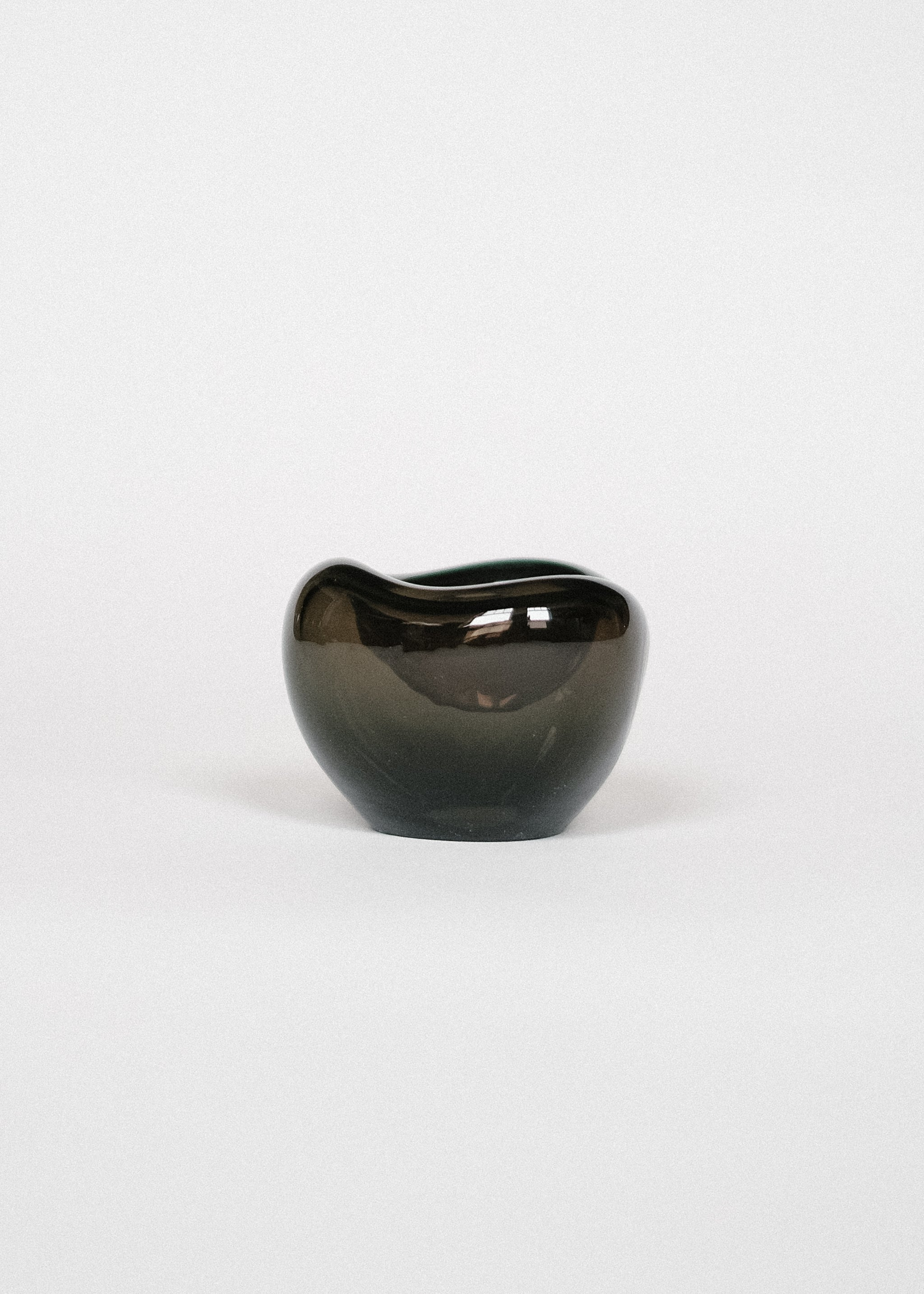Small Glass Bowl in Smoke