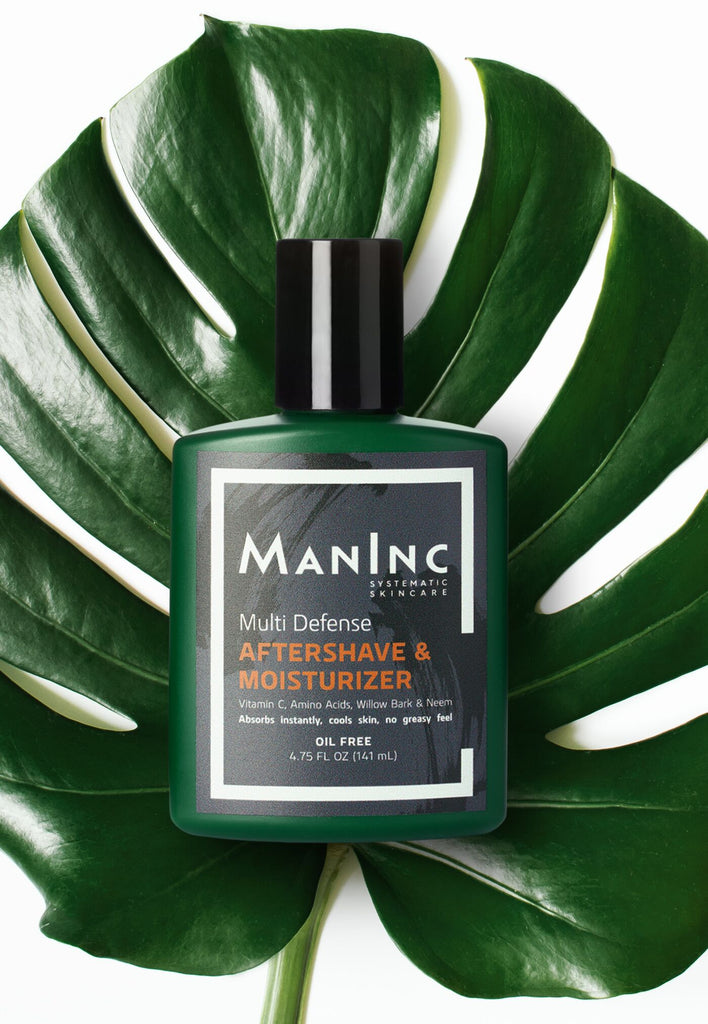 Aftershave lotion for men $24. Post-shave recovery to cool, moisturize, protect open pores, smoothen texture and fight age with amino acids, vitamin c + e, and willow bark. Absorbs instantly. Oil free.  Made for all skin types, including sensitive skin.