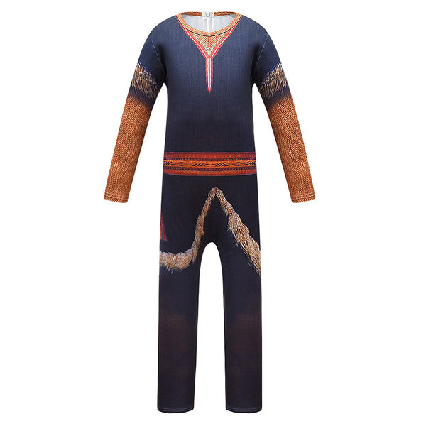 Kids Frozen 2 Kristoff Cosplay Zentai Suit Halloween Costume Children Jumpsuit Bodysuit Outfits