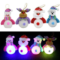Christmas Decoration Night Light Rice Crystal Snowman Christmas Tree Ornament