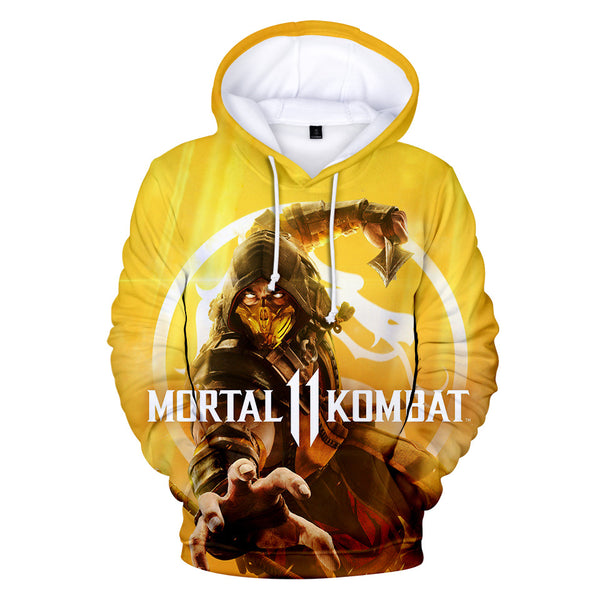 Unisex Game Mortal Kombat Hoodie 3D Printed Hooded Pullover Sweatshirt