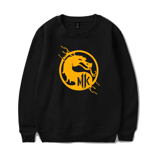Unisex Mortal Kombat Crewneck Sweatshirts Front Side Print Graphics Long Sleeves Hip Hop Top