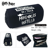 Harry Potter Pen Bags Double Zipper School Pencil Case