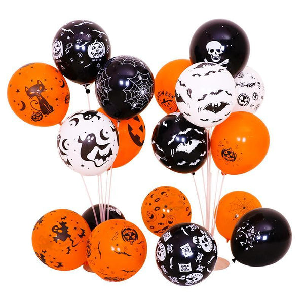 100Pcs Halloween Balloons Decorations, 12 Inch Latex Balloons for Halloween Decorations Party Supplies