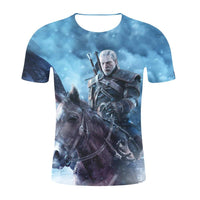 Unisex The Witcher 3: Wild Hunt Shirt Cusual Short Sleeved T-Shirt
