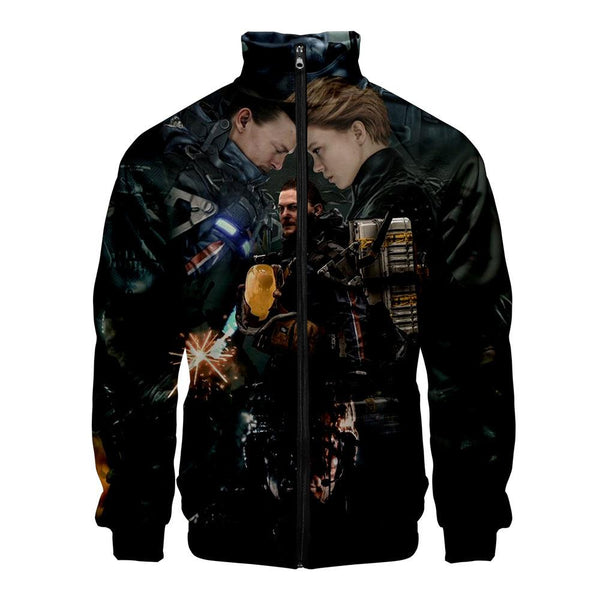 Unisex Death Stranding Coat Cosplay Zip Up Casual Jacket Cosplay Costume
