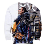 Unisex Death Stranding Sweatshirt Long Sleeve 3D Print Casual Sweatshirt Cosplay Costume