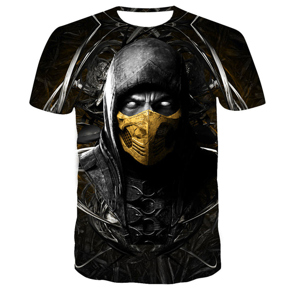Unisex Mortal Kombat 11 T-shirt Men Women Summer O-neck T-shirt Casual Street 3D Print Shirts