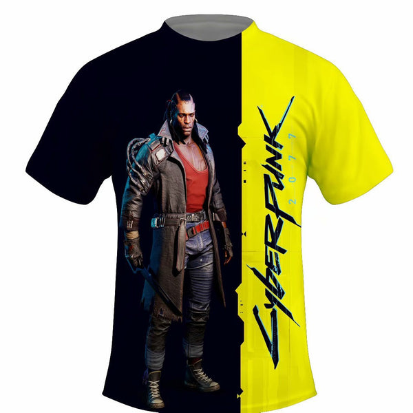 Unisex Cyberpunk 2077 Cosplay T-Shirt Casual Slim Tee Shirt Top